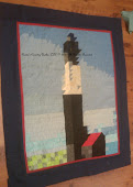 Tybee Light House Quilt Top for a Wall Hanging