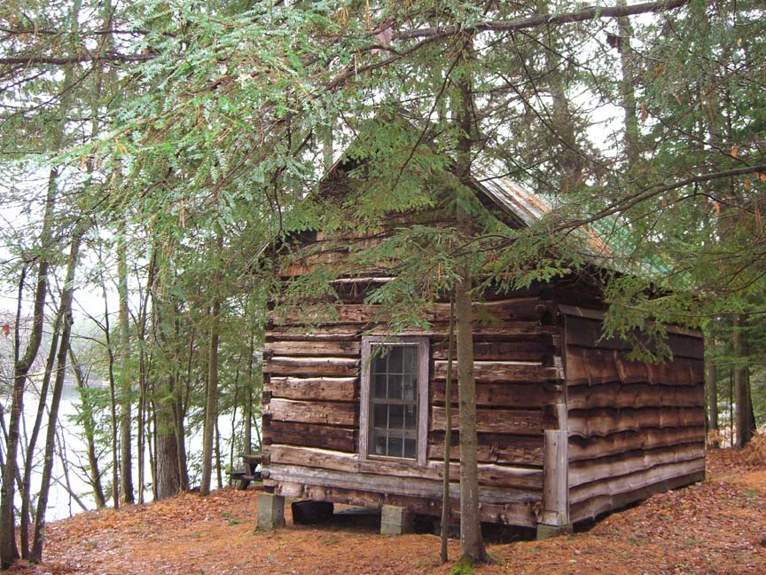 Log Home In The Woods ~ Little cabin in the woods october