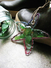 Beach Glass Starfish Ornament