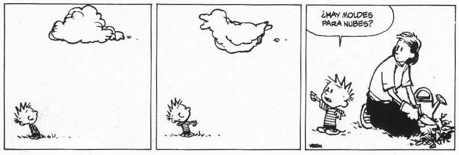Tira de Calvin y Hobbes a modo de Happy Pill Viviendo Y