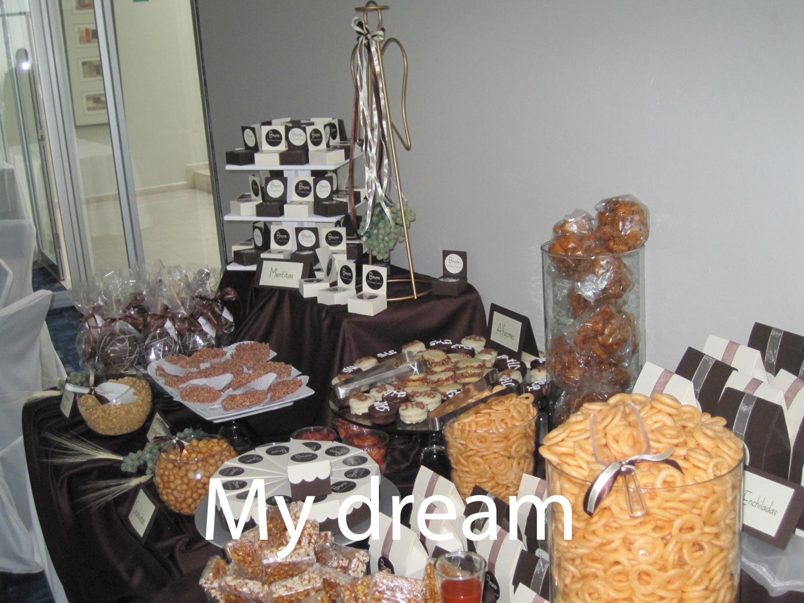 Mesas de dulces, Dulces y decoración con dulces