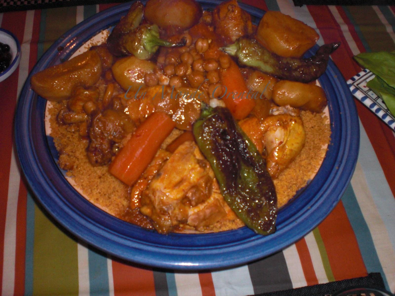 Un Monde Oriental Couscous Aux Legumes Et Poulet