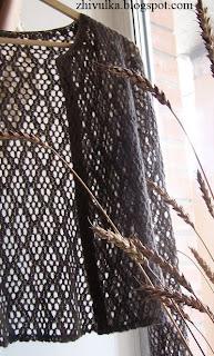 Кофточка ажурная вязаная