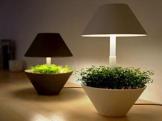 Горшок - светильник