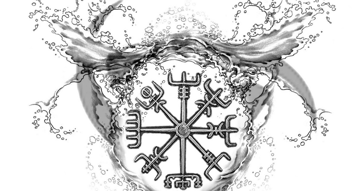 elemental tattoos by joseph gilland viking water compass. Black Bedroom Furniture Sets. Home Design Ideas