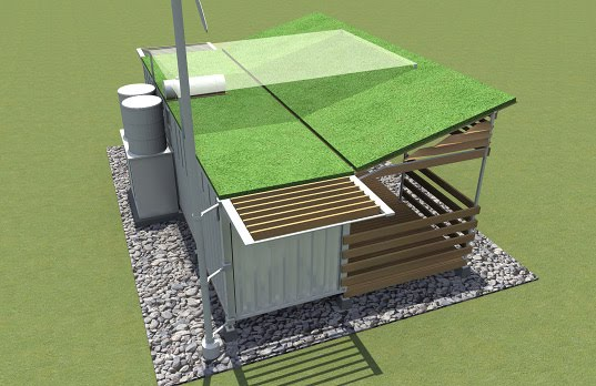 C h foundation shipping container to shelter the million of haitians in need of housing - Foundation shipping container home ...