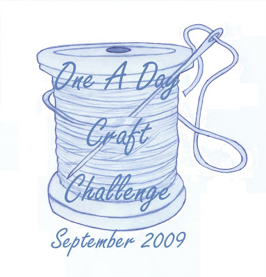 One a Day Craft Challenge September 2009 Logo