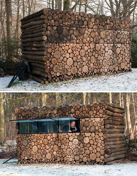 Log Cabin Hunting Blind