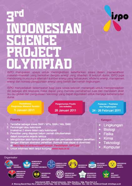 Poster Indonesian Science Project Olympiad (