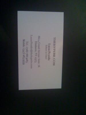 THBR e cartão de visitas!