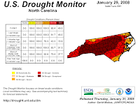 Map of Drought in North Carolina