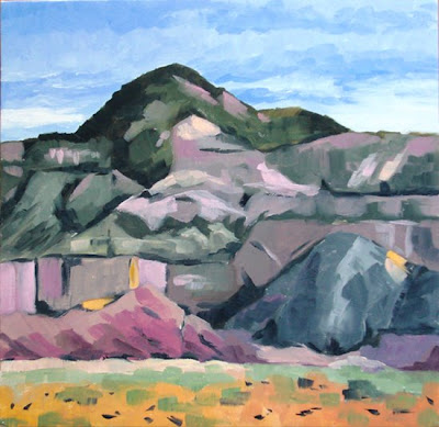 Ghost Ranch daily pastel painting