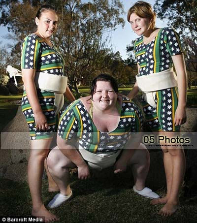 Female sumo wrestlers: 5