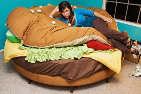 Hamburger Bed: 4Pics