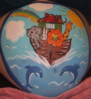 pregnancy belly art
