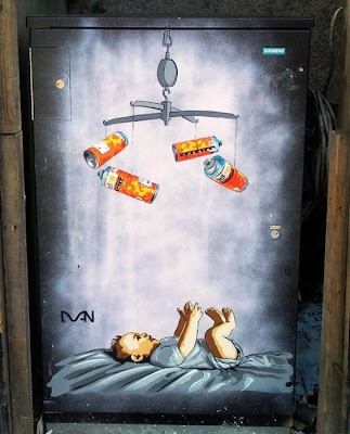 Street art graffitti