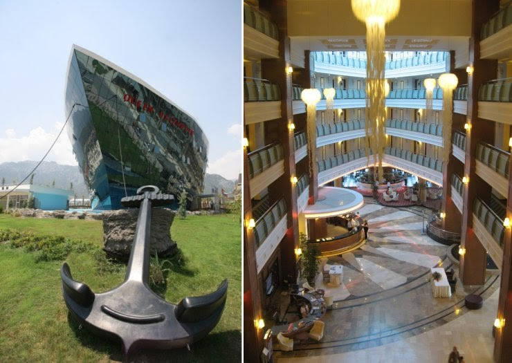 Curious Funny Photos Pictures Queen Elizabeth 2 Cruise Ship Now Floating Hotel In Dubai 6 Pics
