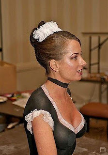 Sexy Girl Maid With The Bandage Of Art Body Painting