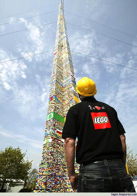 The world's tallest Lego tower: 03