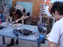 Alumnos de escultura