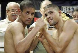Giovanni Sugar Andrade e o campeão mundial WBO, encontro dos campeões