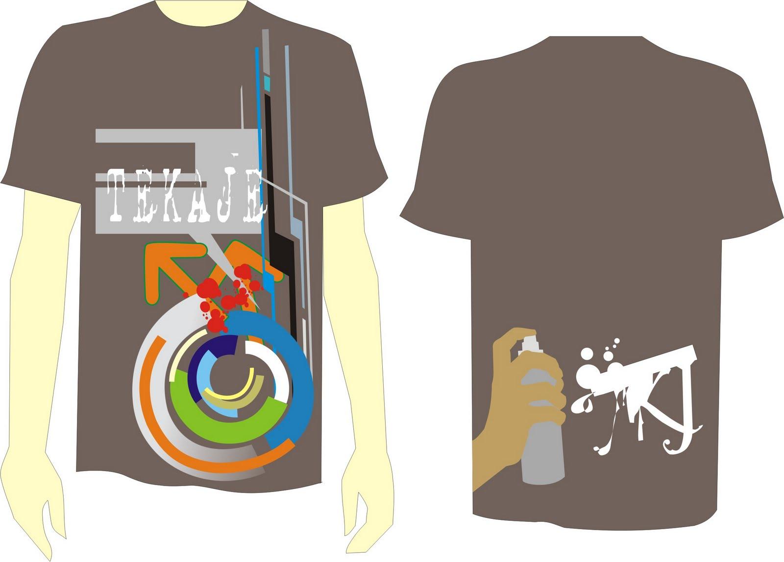 coba post lagi ah, ini 1st t-shirt designed by me