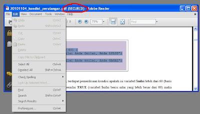 How to Crack SECURED .pdf File