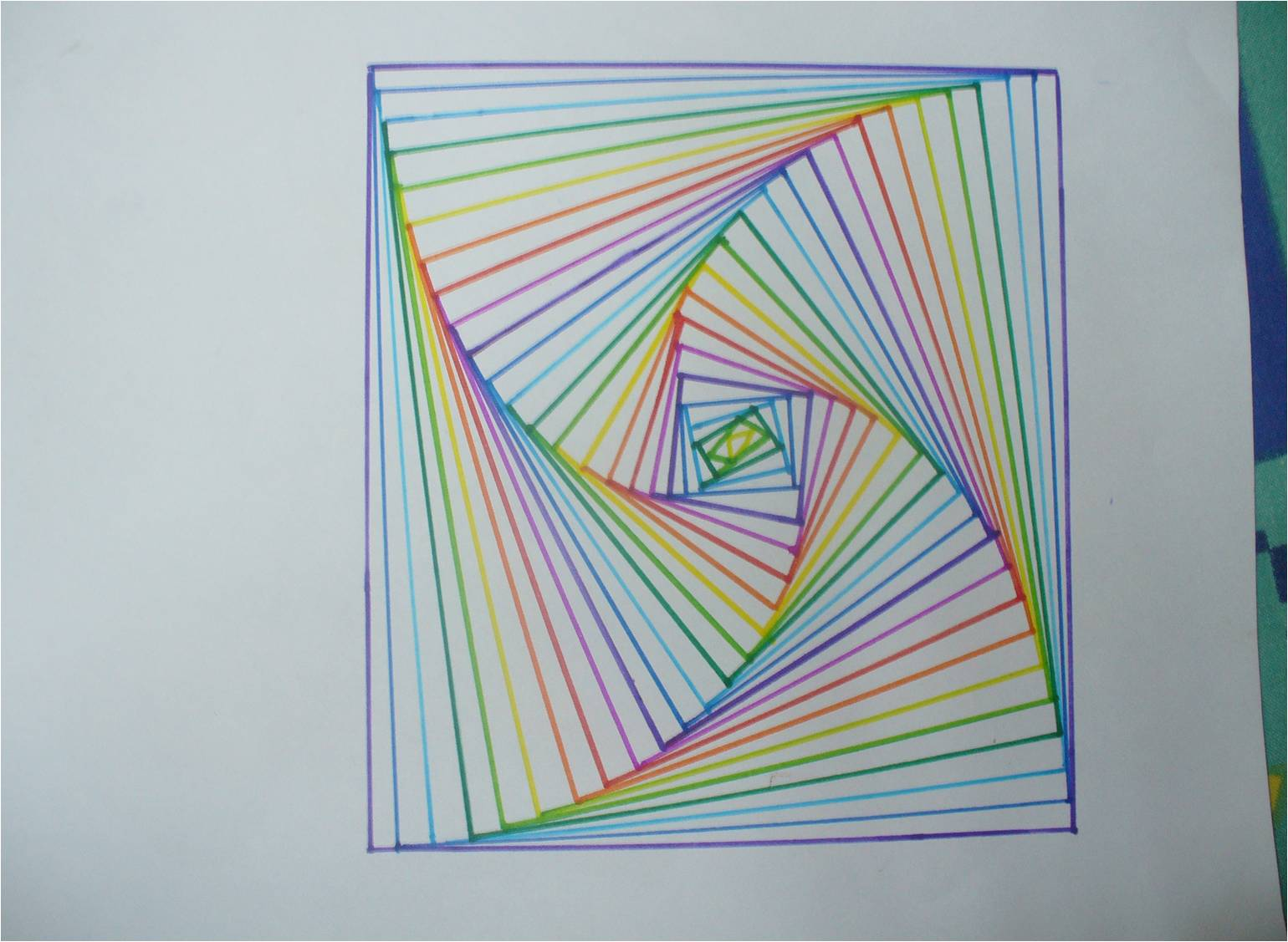 Geometry Line Design Project : Geometric line design math worksheet best free