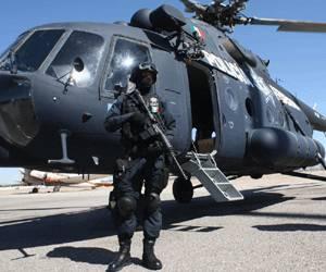 La policia federal en Mexico