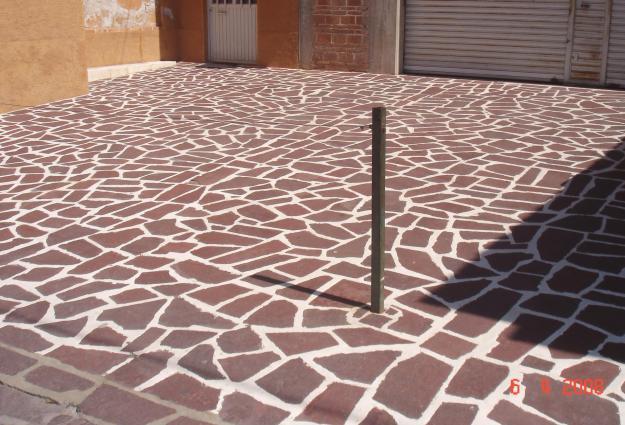 Piedra natural aplicaci n en pisos for Pisos para veredas