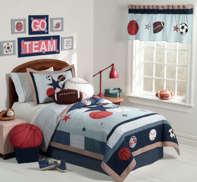 Boy Bedroom Design with soccer theme