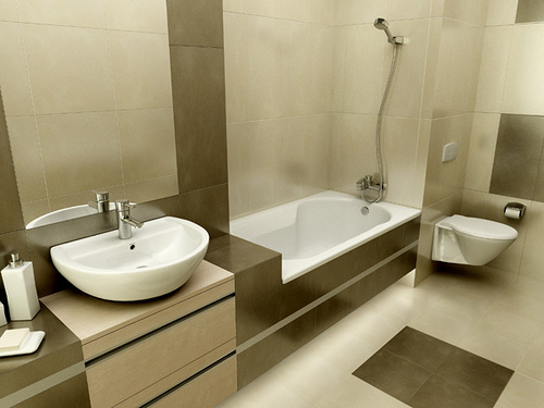 Minimalist Bathroom Interior Minimalist Bathroom Interior Exterior