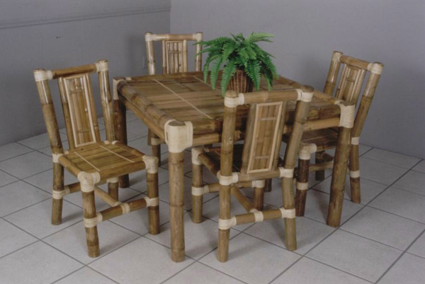 Bamboo living room sethome designs - Bamboo dining room furniture ...