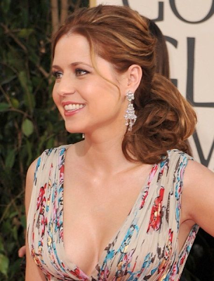 Golden Globes Beauty Jenna Fischer