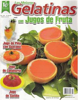 Portada de la revista: Las mejores gelatinas con jugos de frutas