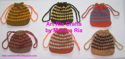 Crochet Mini Bag A by Monica Ria