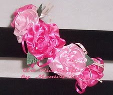 Satin Mix Flower Headband - Art Ria Crafts by Monica Ria