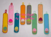 Cup Cake  Bookmark by Monica Ria