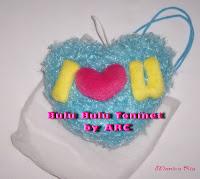 Blue Heart Hanger by Art Ria Crafts