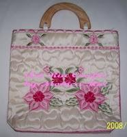Pink Embroidery Handbag