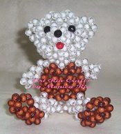 Teddy Bear Beaded Puppet - Art Ria Crafts by Monica Ria