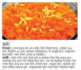 Eid er recipe jorda zordasweet rice bengali recipes recipe no 2 forumfinder Choice Image