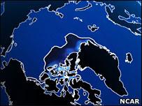 Un nuevo modelo pronostica veranos libres de hielo para 2040 - Imagen publicada por BBC Mundo