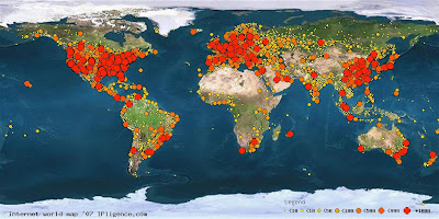 Internet World Map 2007 de IPligence
