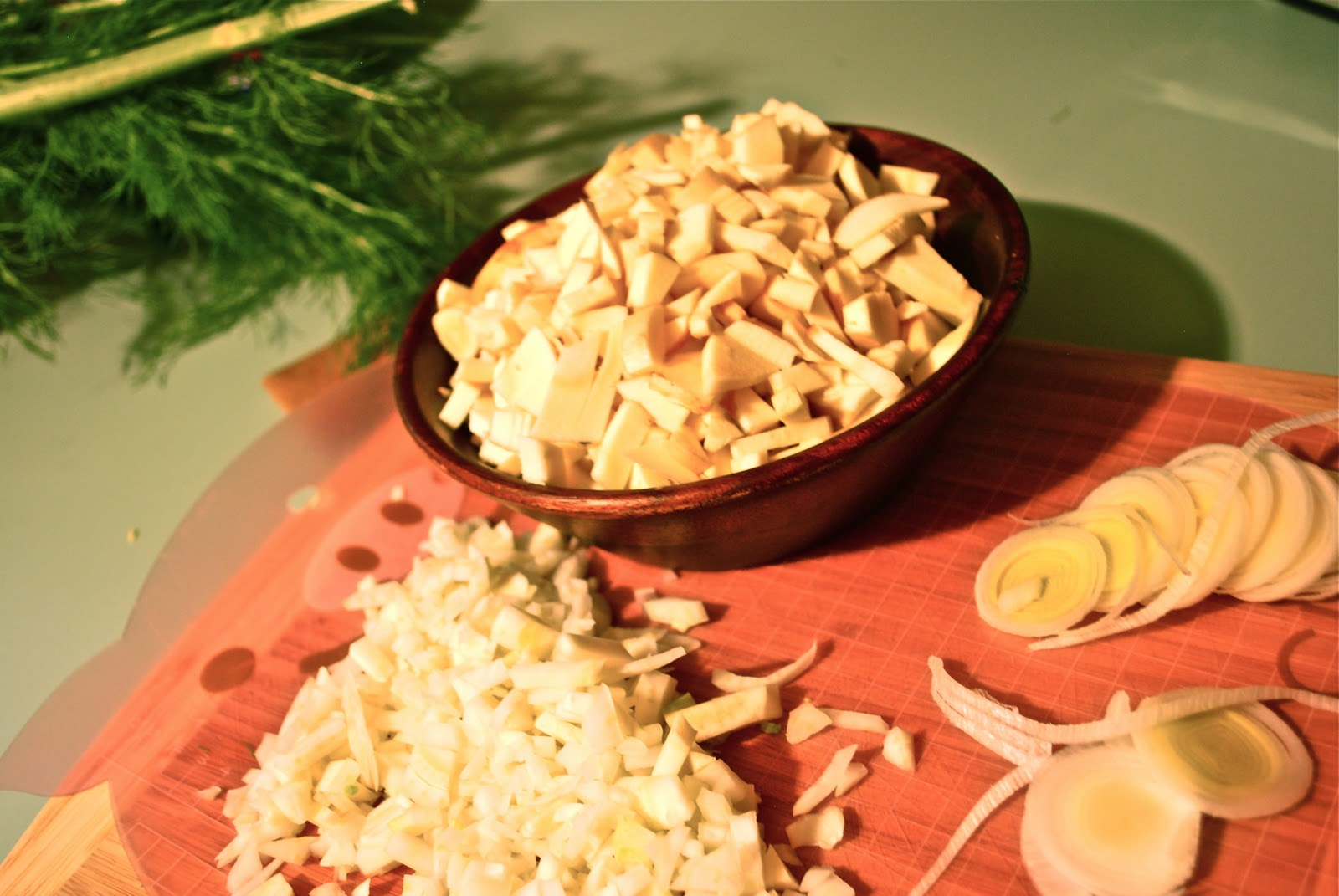 ... bird: The Kitchen Project week 4 - Salmon, Fennel and Parsnip stew