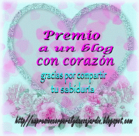 Premio a un blog con corazón.