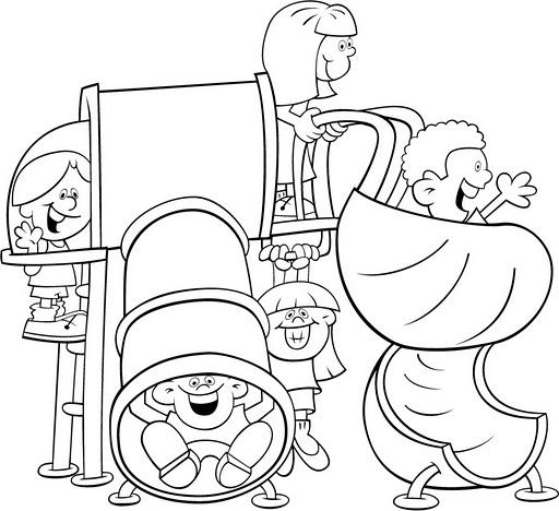 Parques infantiles para dibujar - Imagui
