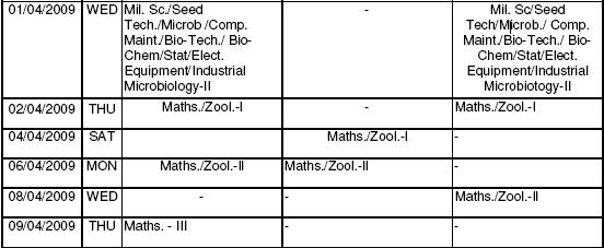 [BU+Bhopal+revised+Time+Table+2009+for+Time+Table+for+B.Sc.+Part+-+I,+II+and+III+4.JPG]