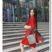 Beautiful Red Dress - Zhang Xin Yu Pictures Gallery Chinese Cute Girl Model