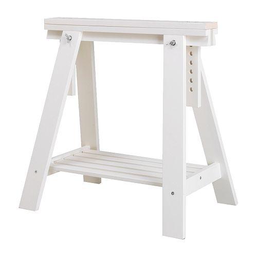 Boho deco chic mesas de trabajo con caballetes - Ikea mesas trabajo ...